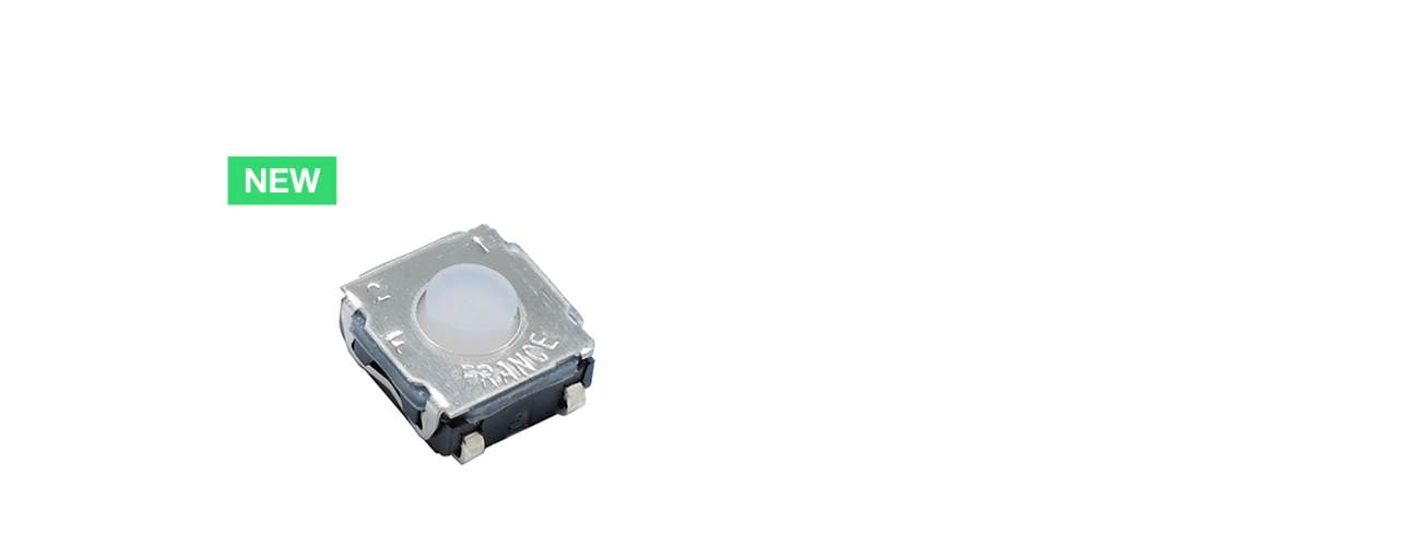 C&K's New Product KSC TE - 6 x 6 mm Top Actuated Tact Switch with 3 Actuation Forces